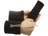 Dark brown sports sweat headband 4inch wristbands set