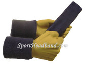 Lakers purple sports sweat headband 4inch wristbands set