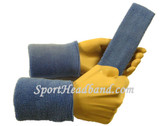 Cerulean blue sports sweat headband 4inch wristbands set