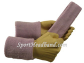 Soft lilac sports sweat headband 4inch wristbands set