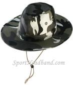 Gray Hunting Camouflage Bucket Hat Safari Style