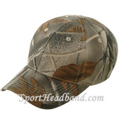 Brown Mossgreen Wood Camouflage Hunting Cap 6Panel Construction