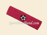 Hot Pink Soccer Logo Customized Sport Headband