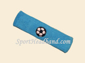 Sky Blue Soccer Logo Custom Sports Headband