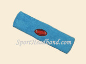 Sky Blue Football Logo Customized Sport Headband
