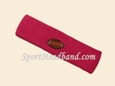 Hot Pink Football Logo Customize Sport Terry Headband