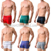 Multi-Stripes Casual Sport Seamless Boxer Briefs Underwear