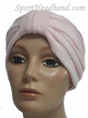 Light Pink Terry Turban Made in USA