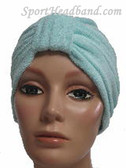 Light Sky Blue Terry Turban Made in USA