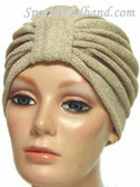 Beige Terry Turban Made in USA