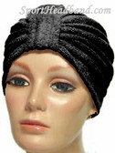 Black Terry Turban Made in USA