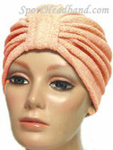 Peach Terry Turban Made in USA