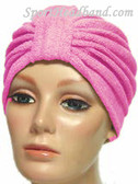 Hot Pink Terry Turban Made in USA
