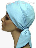Light Blue Cotton100% HeadScarf Turban Made in USA