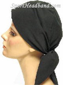 Black Cotton100% HeadScarf Turban Made in USA