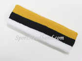 Yellow Black White Striped Sports Headband