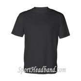Black Athletic Fit Sports Shoulders T-shirt for Sports