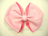 Light pink 2Tone Hair Bow with Clip