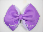 Lavender 2Tone Hair Bow with Clip