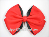 Red 2Tone Hair Bow with Clip