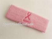 Ribbon and HOPE Symbol Light Pink Sports Headband