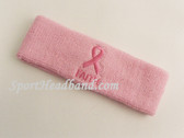 Ribbon and FAITH Symbol Light Pink Sports Headband