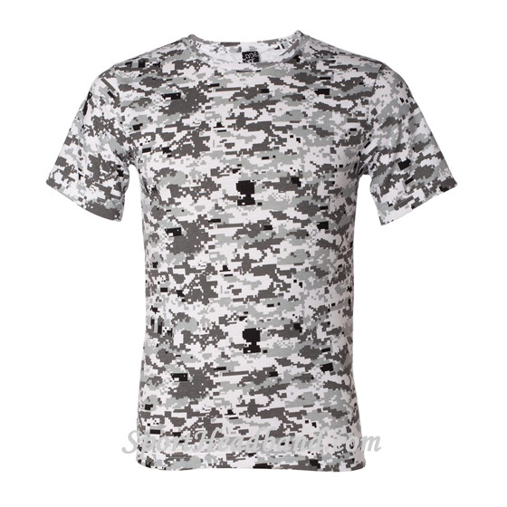 Gray Shirt Gray Digital Camo T-shirt