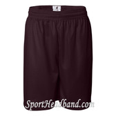 Maroon Mesh Sports Shorts