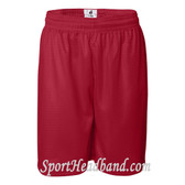 Red Mesh Sports Shorts