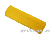 Large yellow sports sweat headband pro