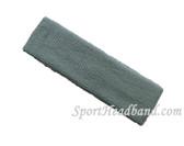 Steel Blue terry sport headband for sweat