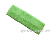 Pale Green terry sport headband for sweat