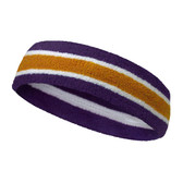 Dark purple tan with white line basketball headband pro