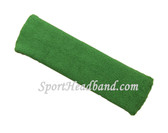 Large forest green sports sweat headband pro