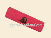 Bright Pink custom sport headbands sweat terry