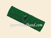 Green custom sport headband sweat terry