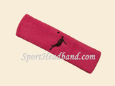 Hot Pink custom headbands sports sweat terry