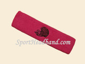 Hot Pink custom sport sweat head band terry