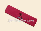 Hot Pink custom sports headband sweat terry