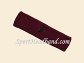 Maroon custom headbands sports sweat terry