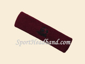 Maroon custom sport headbands sweat terry
