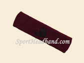 Maroon custom sport sweat head band terry