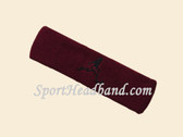 Maroon custom terry headband sports sweat