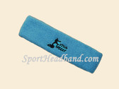 Sky Blue custom sport head band sweat terry