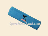 Sky Blue custom sports headband sweat terry