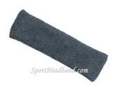 Large Charcoal(Dark Grey) sports sweat headband pro