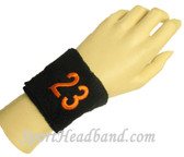 Custom Embroidery Numbered 2.5 inch sport terry wristband