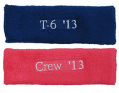[Less. 100 pieces/Text] Customized headbands with text embroider