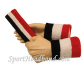 Black White Red sports sweat headband 4inch wristbands set