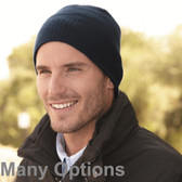 100% Cotton 8.5 inch Soft Wide Ribbed Beanie